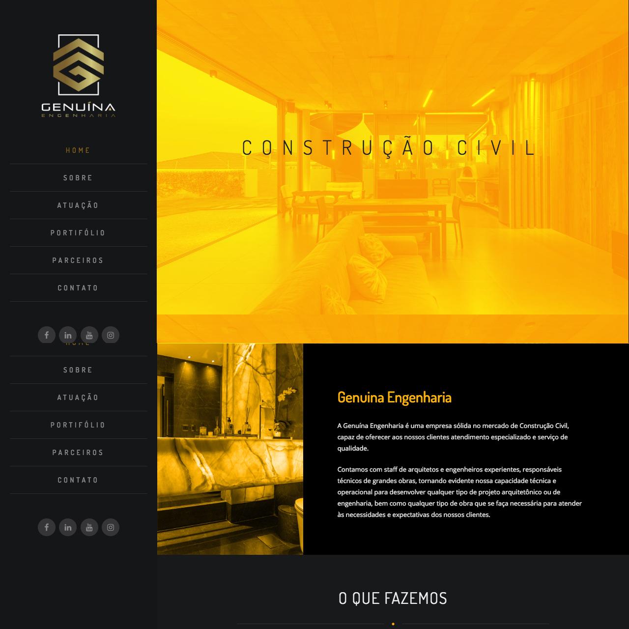 Portfólio - Alvetti Comunicação - Site Genuína Engenharia