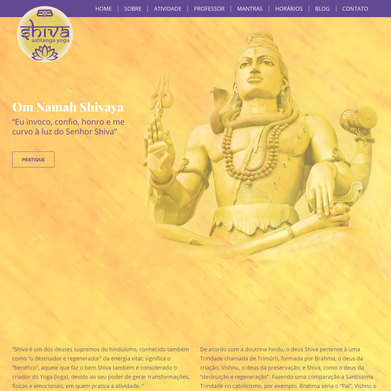 Portfólio - Alvetti Comunicação - Shiva Yoga
